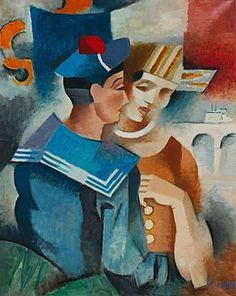Andre Lhote - Le Marin et La Martiniquase, 1918-20