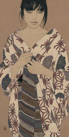 Art by Ikenaga Yasunari Japanese Art Modern, Japanese Prints, Art Indien, Art Occidental, Art Asiatique, Art Japonais, Japanese Painting, Japan Art, Japan Japan