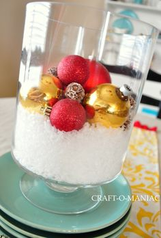 Christmas Table Centerpiece - really easy to make!