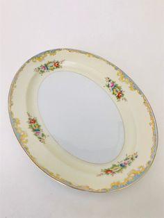 Vintage Mod Flowers Plate Hexagon Shaped Dish Japan Raised Pattern Trinket Candy Soap Dish