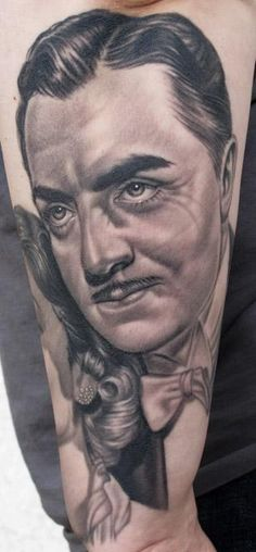 My William Powell Portrait by Nikko Hurtado Awesome Tattoos, Cool Tattoos, Tatoos, Nikko Hurtado, William Powell, Movie Characters, Tattoos For Guys, Piercings, Tattoo Ideas