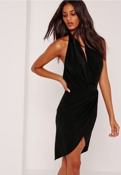Look hawwt as hell this weekend in this slinky, cowl neck dress.