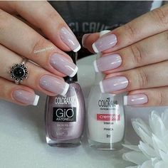 Best Nail Polish Colors of 2020 for a Trendy Manicure French Gel, French Nails, French Manicures, Gorgeous Nails, Pretty Nails, Nailart, Manicure And Pedicure, Natural Nails, Toe Nails