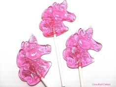 Buy 12 Get 12 Free  UNICORN LOLLIPOPS  Party Favor by CandiedCakes, $18.99