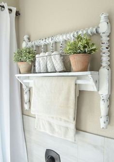 DIY farmhouse style towel bar