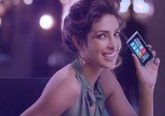Priyanka Chopra with Nokia Lumia Phone