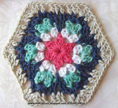 Hekelidees granny hexagon