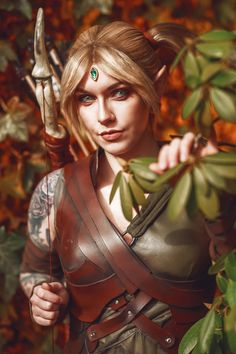 Two Amazing Cosplayers Bring Your Favorite Blackwood Characters to Life  - The Elder Scrolls Online Arrow Costume, Triss Merigold, Elder Scrolls Online, Black Oil, The Rock, Real Leather, Bring It On, Cosplay, Amazing