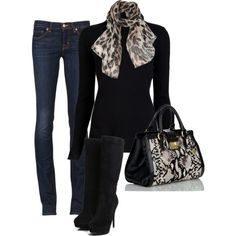 Cute Winter Outfits 2012 | Leopard Scarf | Fashionista Trends