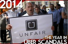 """••UBER Controversies•• 2014 was the year investor Peter Thiel called Uber the """"most ethically-challenged company in Silicon Valley"""" - Salon article 2014-12-24 • despite being one of the success stories of the sharing economy in 2013/14 it has suffered from endless string of scandals/PR disasters...i.e. surge pricing tactics + sexual assault + client abuse + unfair fare cuts to drivers + anti-competitive + anti-journalist + anti-regulators etc."""