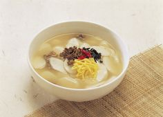 Tteokguk (rice cake soup) is a must for Korean New Year (Image courtesy of Brandon Chu)