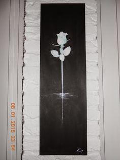 witte roos,  Artist Freek Schutten