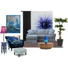 A home decor collage from June 2014 featuring fabric furniture, blue furniture and Emerson. Blue Furniture, Modern Design, Polyvore, Table, Home Decor, Decoration Home, Room Decor, Contemporary Design, Tables