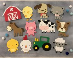 Farm Animal Cutouts Farm Animal Die Cuts Farm Animals Farm Themed Baby Shower Decor Birthday Party Decor Scrapbooking Set of 6 9 12 – Fitness Tips for Everyone Farm Animal Party, Farm Animal Birthday, Farm Birthday, Farm Party, Birthday Party Decorations, Baby Shower Decorations, Birthday Parties, Animal Cutouts, Create A Critter