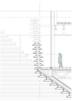 V&A at Dundee / Kengo Kuma & Associates,Terrace facade screen detail © Kengo Kuma & Associates
