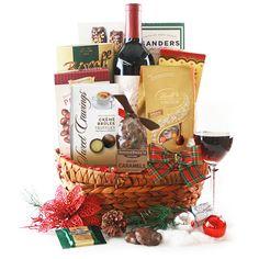 Wine & Chocolate Christmas Gift Basket