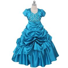 Teal Girl Dresses Pageant Princess Wedding Birthday Party Ball Gown Prom Pick Up in Clothing, Shoes & Accessories, Kids' Clothing, Shoes & Accs, Girls' Clothing (Sizes 4 & Up) | eBay