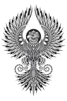 A clothing illustration research of a legendary Phoenix - - A clothing illustra. - A clothing illustration research of a legendary Phoenix – – A clothing illustration research o - Kunst Tattoos, Body Art Tattoos, Sleeve Tattoos, Wing Tattoos, Wing Tattoo Men, Crow Tattoos, Tatoos, Phoenix Bird Tattoos, Phoenix Tattoo Design