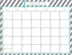 2016 Free Printable Calendars | Crafting in the Rain