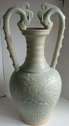 Song or Yuan Celadon Ware- Two Dragon Handle Amphora - Chinese ceramics - Wikipedia, the free encyclopedia