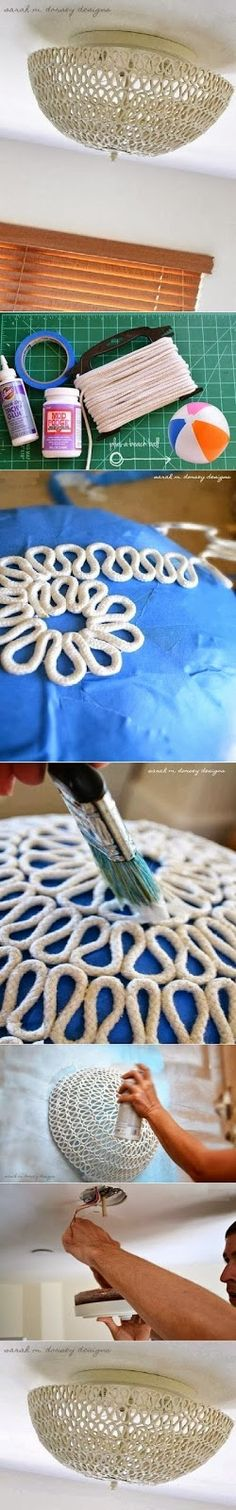 Easy Way To Make Lampshade From Rope