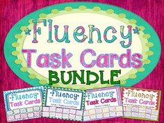 Fluency Task Cards BUNDLE { Oral Reading Fluency Practice }A HUGE (discounted) bundle of 128 Fluency Task Cards with varied sentence types to help your students practice their oral reading fluency! Perfect small group, whole group, or independent center fluency activity. $
