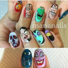 ☺ Painted Nail Art, Hand Painted, Disney Nail Designs, Secret Nails, Nail Mania, Disney Outfits, Disney Clothes, Disney Nails, 2015 Trends