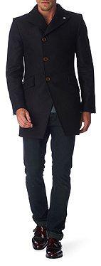 VIVIENNE WESTWOOD Asymmetric wool-blend coat