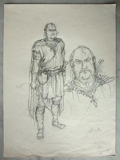 Swolfs, Yves - Originele tekening - Legende - W.B.