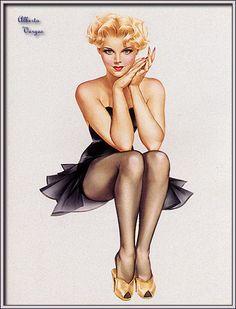 """Vargas """"pin-ups"""" - sinônimo de figura feminina - História da Publicidade e Anúncios Antigos"""