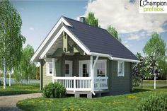 Want to build a wooden houses in India? Champion Prefabs, wooden homes are the most trusted and experienced wooden house builders in India. Cottage In The Woods, House In The Woods, Cottage Style, Cabin Plans With Loft, Small Cabin Plans, Prefab Cottages, Prefab Homes, Building A Wooden House, Modern Bungalow House Design