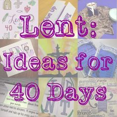 Look to Him and be Radiant: Lent: Ideas to Help Kids Pray, Fast, and Give all 40 Days Catholic All Year, Catholic Kids, Catholic School, Object Lessons, Bible Lessons, Lent Kids, Teaching Religion, Religion Activities, 40 Days Of Lent