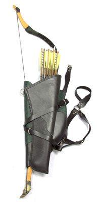 Bundled Bow, Arrows, Quivers