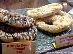 Sweet pretzels at Kringla Bakeri og Cafe at Epcot's Norway   Sweet Pretzel with Almonds Sweet Pretzel with Chocolate