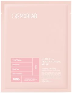 Herb Tea Pure Calming Mask:  This 100% organic cotton sheet mask delivers highly concentrated hydrating and calming ingredients into the skin. Special thermal water increases skin moisture content while polyphenols and tannins from chamomile and black herb tea extracts help to soothe and improve the skin's complexion. The mask forces ingredients to gently absorb into dry, coarse skin to leave a radiant glow.  Ideal for all skin types.