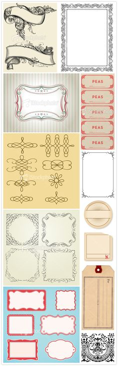 Classic, beautiful vintage and antique inspired printable labels. #printables #crafts #labels #scrapbooking #cards #card_making #free