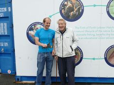 """Our first customer at The Hatchery Mike who sponsored """"Mike's lobster"""" to be V notched and returned to the sea"""