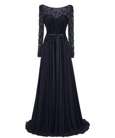 Dresstells Damen Langer Ärmel Rückenfreie Abendkleider Promi-Kleider: Amazon.de: Bekleidung