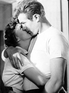 "James Dean and Natalie Wood in ""Rebel Without a Cause"", (1955)"