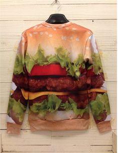 4115afa943fb3 Hamburger Sweatshirt Fleece Sweater