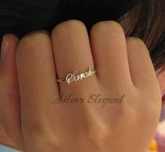 Name Ring - Silver Name Ring -  Perfect Gifts - Sterling Silver