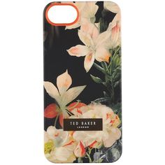 Ted Baker Salso Opulent Bloom iPhone Case ($32) ❤ liked on Polyvore featuring accessories, tech accessories, phone cases, phone, fillers, electronics, black, iphone sleeve case, iphone case and iphone hard case