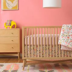Highland 4 In 1 Convertible Crib With Toddler Rail
