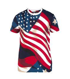 HUDSON OUTERWEAR USA FLAG TEE-GDaUkaXg