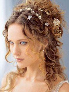 wedding hair hairdos flowers