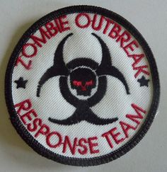 Zombie Outbreak Response Team Embroidered Patch (Sew On or Iron On)