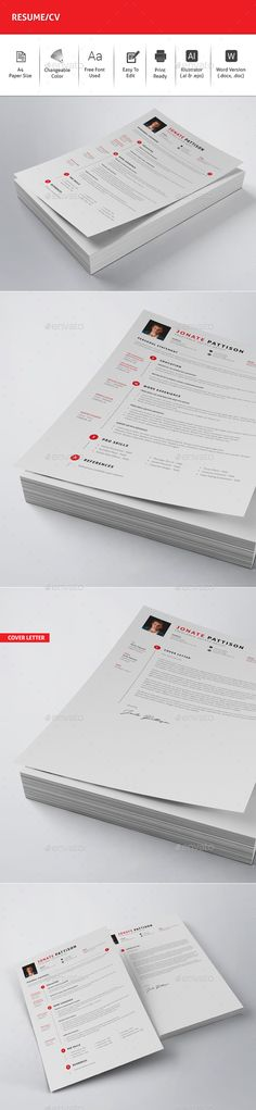 Resume/CV - #Resumes Stationery Download here: https://graphicriver.net/item/resumecv/19627201?ref=alena994