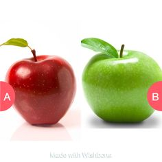 Red delicious or Granny smith apples Tap to vote http://sms.wishbo.ne/U1ak/pTxWQnbeat