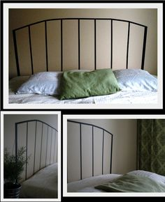 Fake headboard with tape (Teippitarha blog)
