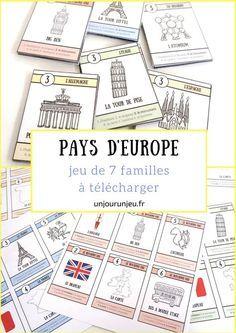 Carte De Leurope Pour Ce2.Pays D Europe Le Jeu De 7 Familles A Telecharger Gratuitement